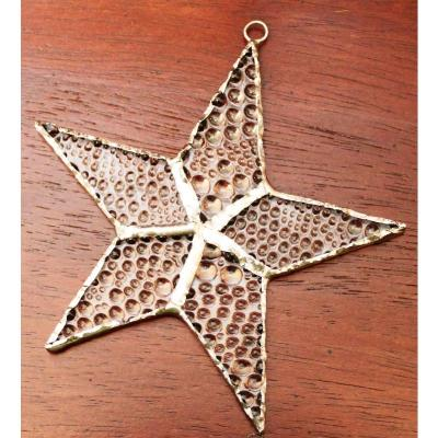 Memorial Holiday Stained Glass Star - Shipped